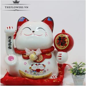 Mèo May Mắn Tặng Tân Gia - Song Hỉ Lâm Môn