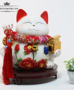 Mèo May Mắn Tặng Tân Gia - Kim Ngọc Cát Tường
