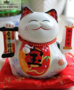 Mèo Tài Lộc Màu Trắng - Kim Vận Chiêu Tài