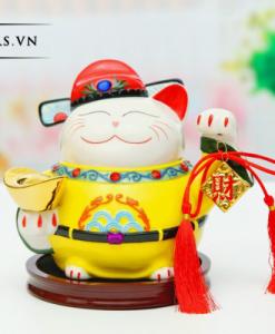 Mèo Thần Tài Giơ Tay Trái - Thăng Quan Phát Tài