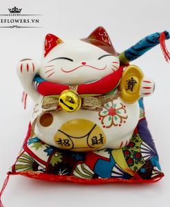 Mèo Thần Tài Vẫy Tay Phải - Hưng Nghiệp Vượng Tài