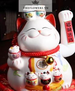 Mèo Vẫy Tay Màu Trắng - Khai Vận Tài Lộc
