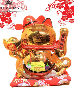 Mèo Vẫy Tay Màu Vàng - Tài Lộc Vô Biên