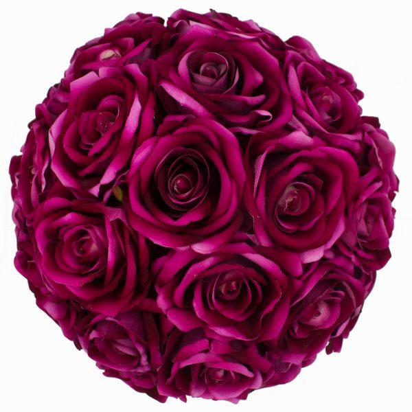 Hoa Lụa Màu Tím – Hộp Tròn Đen