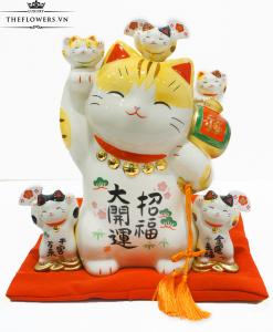 Mèo Thần Tài Yakushigama - Ngũ Phúc Vinh Hoa
