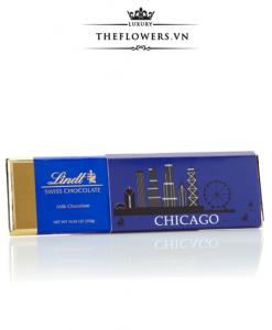 Socola Lindt Swiss Chocolate Chicago Gold Bar