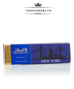 Socola Lindt Swiss Chocolate New York Gold Bar – Socola Sữa