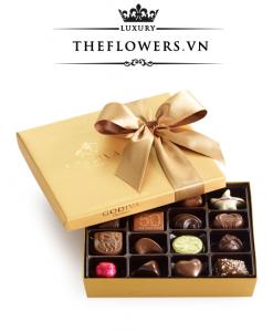 Socola Godiva Gold Gift Box Ruy Băng hộp 19 viên