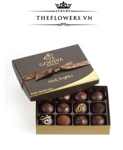 Socola Godiva Dark Chocolate Truffles hộp 12 viên