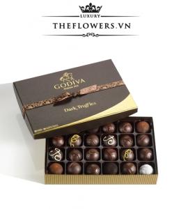 Socola Godiva Dark Chocolate Truffles hộp 24 viên