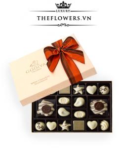 Socola Godiva White Chocolate Assortment hộp 24 viên