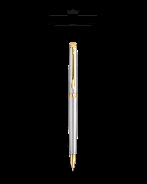 Bút Bi Waterman Hemisphere 10 Vỏ Thép Cài Vàng