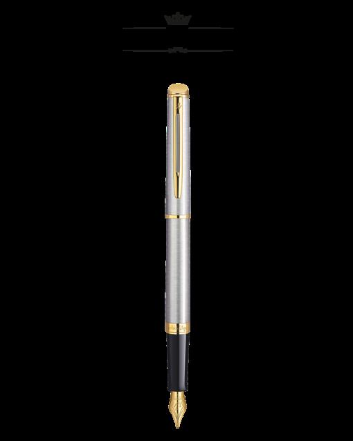 Bút Ký Waterman Hemisphere 10 Vỏ Thép Cài Vàng