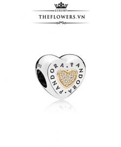 Pandora Logo Heart Silver