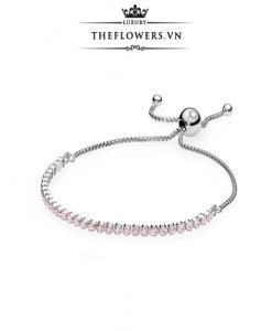 Pandora Pink Sparkling Strand Bracelet