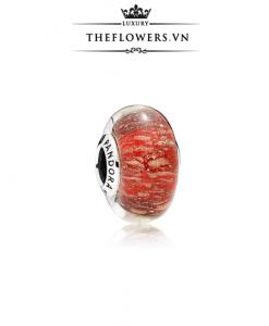 Pandora Red Twinkle Glass Murano