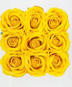 Hoa hồng lụa màu vàng