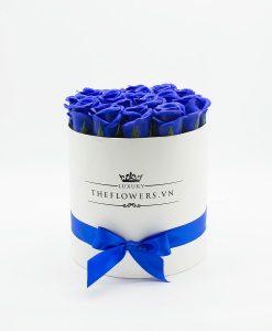 Quà tặng 20 10 với những bông hoa hồng sáp màu xanh biển ý nghĩa