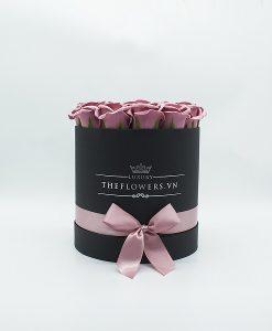 Hoa hồng sáp màu hồng đất
