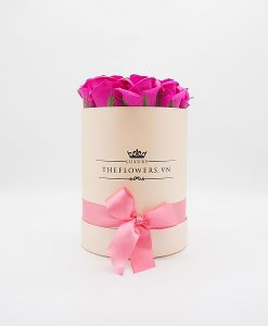 Hoa sáp màu hồng size S