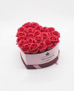 Hoasáp màu đỏ hộp trái tim size S