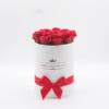 Hoa sáp Màu Đỏ Hộp Tròn Trắng Size S - Hoa Sinh Nhật