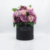 Hoa Lụa Phối Màu Hồng Tím Hộp Đen Size M - Hoa Sinh Nhật Đẹp