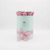 Hoa sáp Màu Hồng Đất Hộp Tròn Xanh Size S - Hoa Sinh Nhật